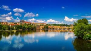 Praga - widok znad Wełtawy
